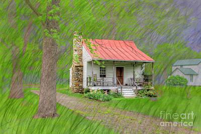 Log Cabin Art Photograph - Antoine Lalumandiere House  by Larry Braun
