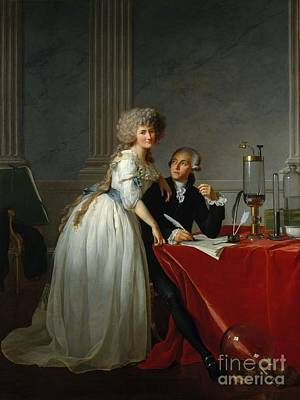 1743 Painting - Antoine Lavoisier by MotionAge Designs