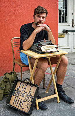 Typewriter Photograph - Antoine by Steve Harrington