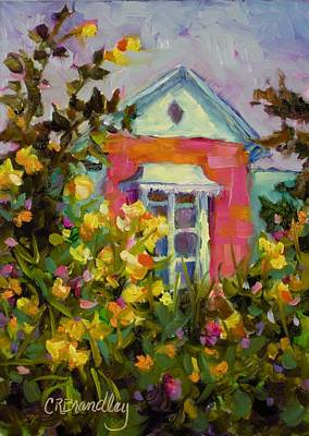 Painting - Antoinette's Cottage by Chris Brandley