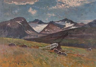 Pop Art - ANTON GENBERG , Mountain scenery by Anton Genberg