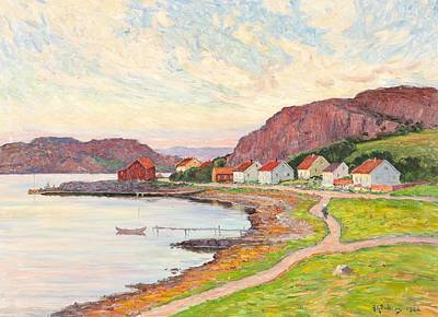 Season Painting - Anton Genberg, 1862-1939, Scandinavian Nordic Landscape 2 by Anton Genberg