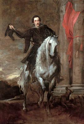 Painting - Anton Giulio Brignole-sale On Horseback by Anthony van Dyck