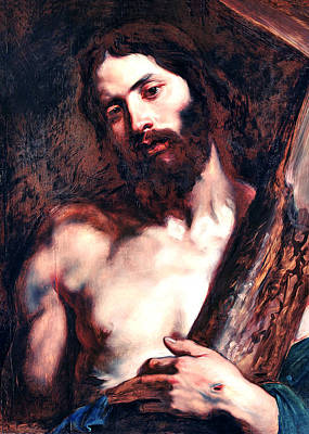 Anton Digital Art - Anton Van Dyck Carrying The Cross by Munir Alawi