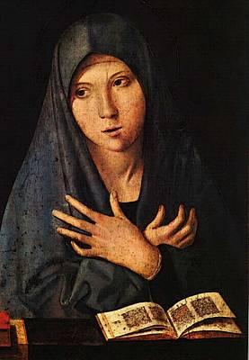 Antonello Da Messina Virgin Of The Annunciation Art Print