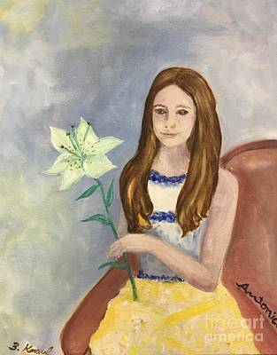 Painting - Antonia With Lily by Barbara Anna Knauf
