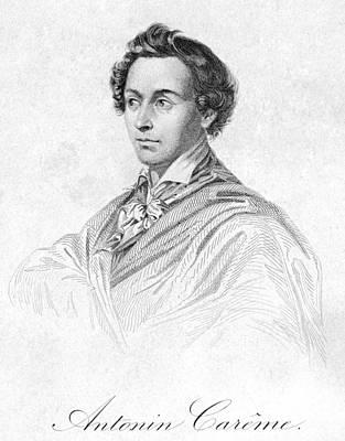 Autographed Photograph - Antonin Car�me (1783-1833) by Granger