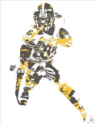 Mixed Media - Antonio Brown Pittsburgh Steelers Pixel Art 15 by Joe Hamilton