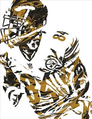 Mixed Media - Antonio Brown Pittsburgh Steelers Pixel Art 7 by Joe Hamilton