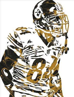 Mixed Media - Antonio Brown Pittsburgh Steelers Pixel Art4 by Joe Hamilton