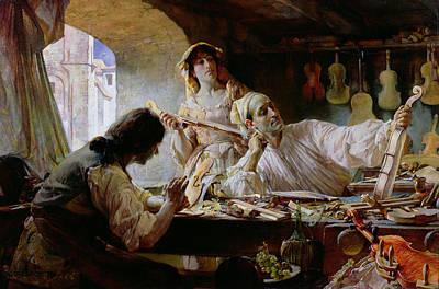 Craftsman Painting - Antonio Stradivari by Edgar Bundy