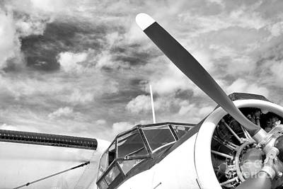 Antonov An-2 In Black White Art Print