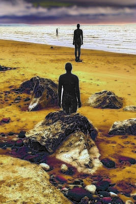 Photograph - Antony Gormley Statues Crosby by David French