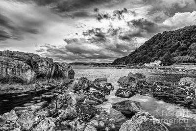 Photograph - Antrim Coast Bw by Jim Orr