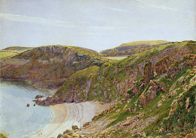Water Colour Painting - Antsey's Cove South Devon by George Price Boyce