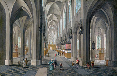 Painting - Antwerp Cathedral by Peeter Neeffs the Elder