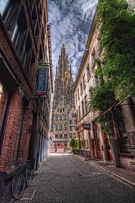 Photograph - Antwerp Cathedral by Van Sutherland