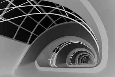 Abstract Architecture Photograph - Antwerp-stairs by Jan Niezen