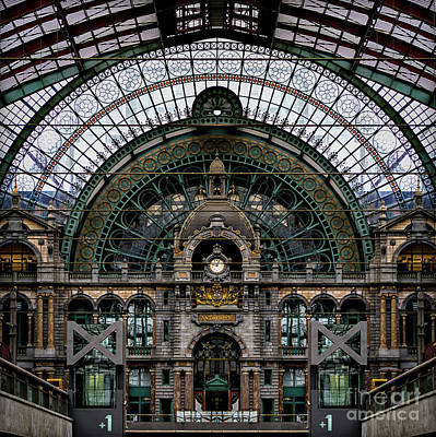 Antwerp Train Terminal Art Print by Doug Sturgess