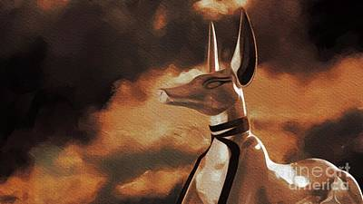 Sirius Painting - Anubis, God Of Egypt by Pierre Blanchard