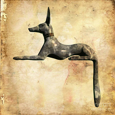 Sirius Digital Art - Anubis, Pop Art By Mary Bassett by Mary Bassett
