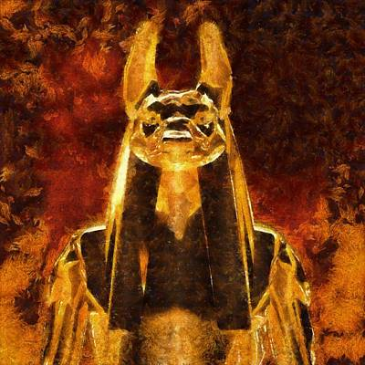 Beast Painting - Anubis by Esoterica Art Agency