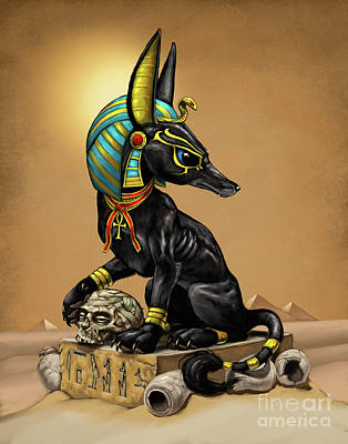 Digital Art - Anubis Egyptian God by Stanley Morrison