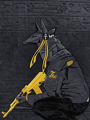Ak-47 Painting - Anubis by Lawrence Carmichael
