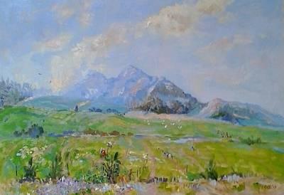 Cattle Egret Painting - Anura In Summer by Elinor Fletcher