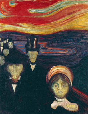 Painting - Anxiety  by Edvard Munch