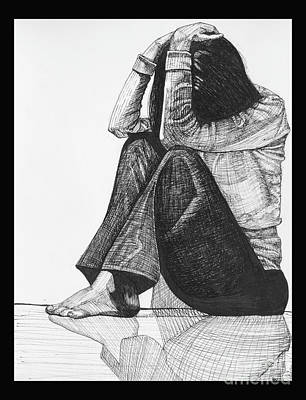 Drawing - Anxiety by Jessica Browne-White