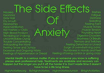 Photograph - Anxiety Side Effects by VIVA Anderson