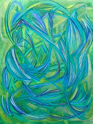Abstract Movement Drawing - 'any Change' by Kelly K H B