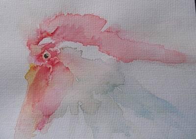 Wall Art - Mixed Media - Any Eggs Today by Linda Bartlett