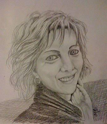 Drawing - Anya by Gyorgy Szilagyi
