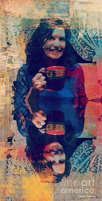 Mixed Media - Anyone For A Cuppa by Leanne Seymour