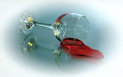 Wine Reflection Art Photograph - Anyone Have A Straw by Arnie Goldstein