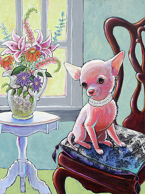 Chihuahua Portraits Painting - Anything Else, My Lady? by Ande Hall