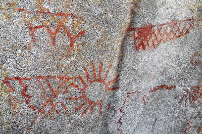 Photograph - Anza Borrego Desert Pictographs by Kyle Hanson