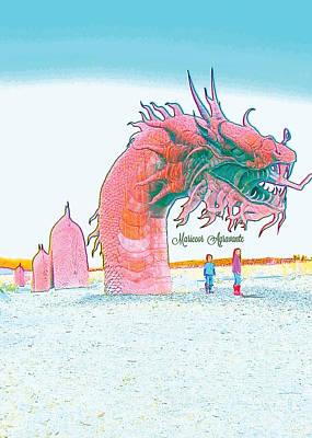 Tourist Attraction Digital Art - Anza - Borrego Desert Sea Dragon by Mariecor Agravante