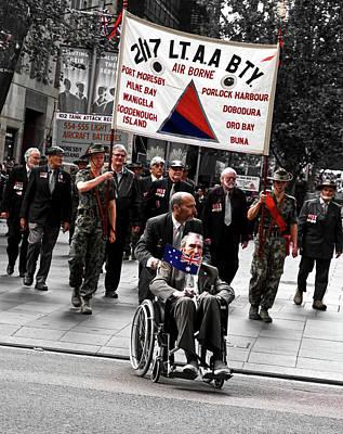 Photograph - Anzac Day March 2/17th Battalion  by Miroslava Jurcik