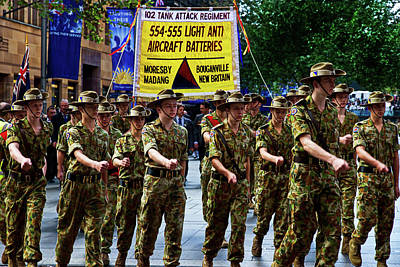 Photograph - Anzac Day March Army Cadets  by Miroslava Jurcik