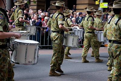 Photograph - Anzac Day March - Cadet's Drums by Miroslava Jurcik