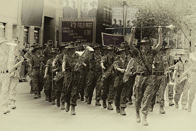 Photograph - Anzac Day March - Cadets by Miroslava Jurcik