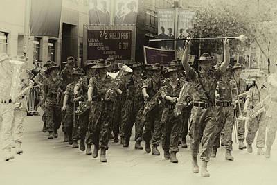 Photograph - Anzac Day March - Cadets by Miroslava Jurcik