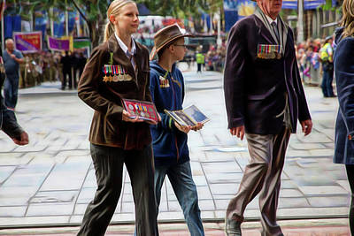 Photograph - Anzac Day March Family Representation by Miroslava Jurcik