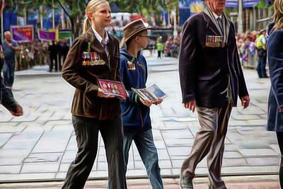 Photograph - Anzac Day March Family Representation by Miroslava Jurcik