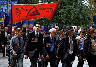Photograph - Anzac Day March - Locating The Enemy by Miroslava Jurcik