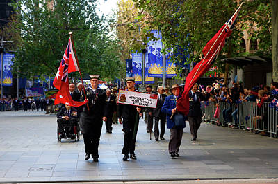 Photograph - Anzac Day March Merchant Navy Ww2 Veterans by Miroslava Jurcik