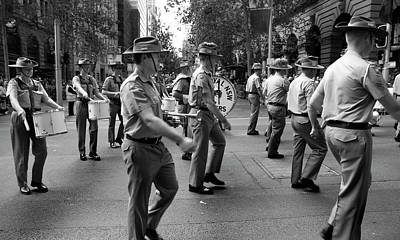 Photograph - Anzac Day March Milltary Band Part Of Our History by Miroslava Jurcik